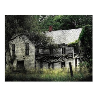 A Rural Missouri Abandoned House Postcard