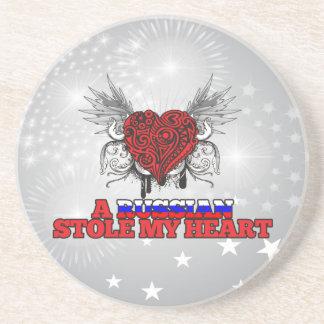 A Russian Stole my Heart Coaster