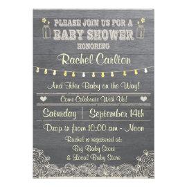 A Rustic Mason Jar Baby Shower Invitation Invitations
