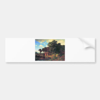 A rustic mill by Bierstadt Bumper Stickers