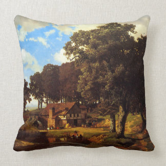 A Rustic Mill Throw Pillow