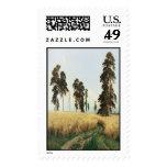 'A Rye Field' Postage Stamp