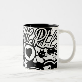 A.S.D Pattern Two-Tone Coffee Mug