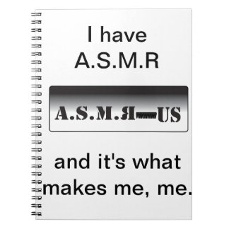 A.S.M.R Products Spiral Notebook