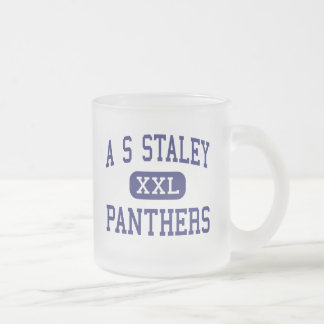 A S Staley Panthers Middle Americus Georgia Frosted Glass Coffee Mug