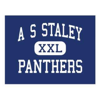 A S Staley Panthers Middle Americus Georgia Postcard