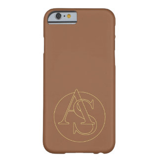 """""""A&S"""" your monogram on """"iced coffee"""" color Barely There iPhone 6 Case"""