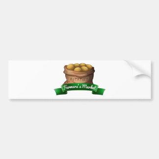 A sack of potatoes car bumper sticker