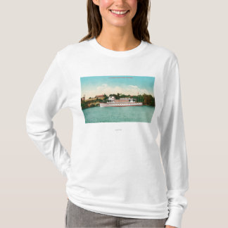 A Sacramento River Scene with a Riverboat T-Shirt