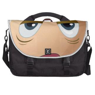 A sad egg laptop bag