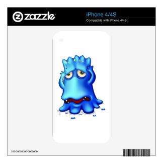 A sad monster because of failure skins for iPhone 4