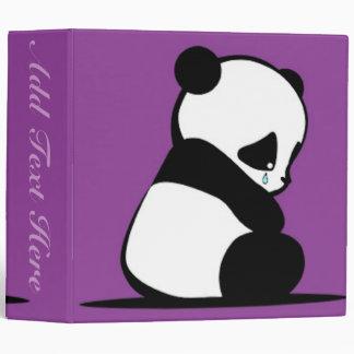 A Sad Panda Binder