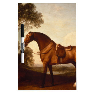 A Saddled Bay Hunter by George Stubbs Dry-Erase Whiteboards
