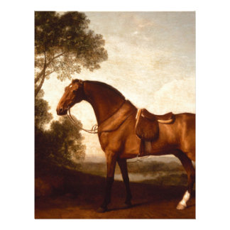 A Saddled Bay Hunter by George Stubbs Letterhead