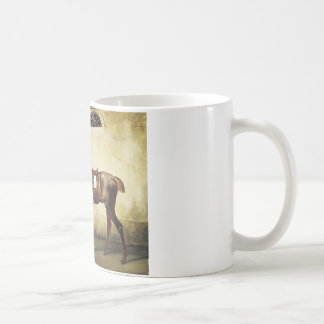 A Saddled Race Horse Tied to a Fence by Horace Ver Coffee Mug
