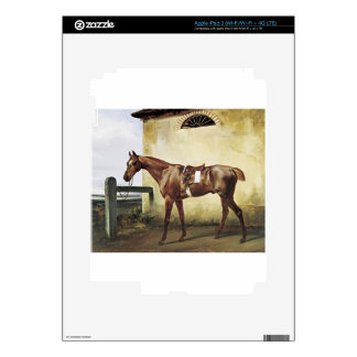 A Saddled Race Horse Tied to a Fence by Horace Ver Decal For iPad 3