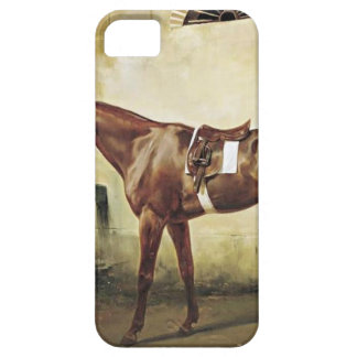 A Saddled Race Horse Tied to a Fence by Horace Ver iPhone SE/5/5s Case