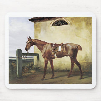 A Saddled Race Horse Tied to a Fence by Horace Ver Mouse Pad