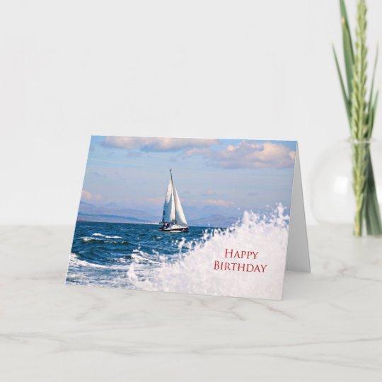 a sailboat birthday card zazzle com