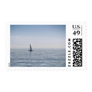 A Sailboat on a Calm Sea Postage