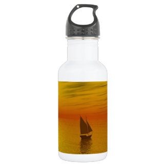 a sailing boat stainless steel water bottle