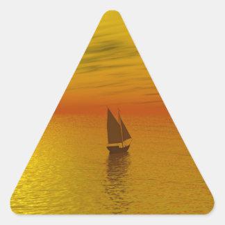 A sailing boat. triangle sticker