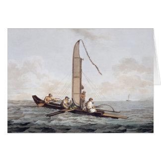 A Sailing Canoe of Otaheite Card