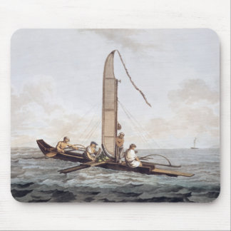A Sailing Canoe of Otaheite Mouse Pad
