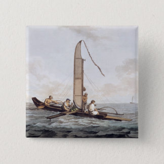 A Sailing Canoe of Otaheite Pinback Button