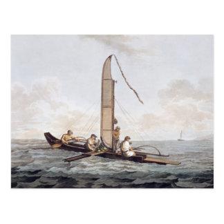 A Sailing Canoe of Otaheite Postcard
