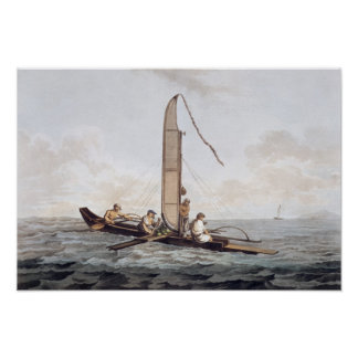 A Sailing Canoe of Otaheite Poster