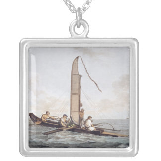 A Sailing Canoe of Otaheite Silver Plated Necklace