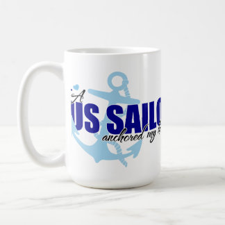 A Sailor Anchored My Heart Classic White Coffee Mug