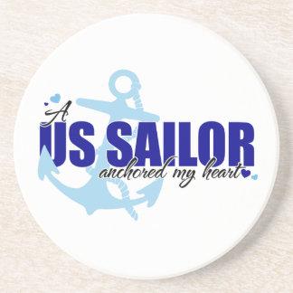 A Sailor Anchored My Heart Coaster