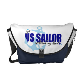 A Sailor Anchored My Heart Courier Bag