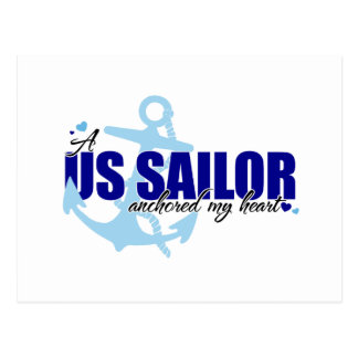 A Sailor Anchored My Heart Postcard