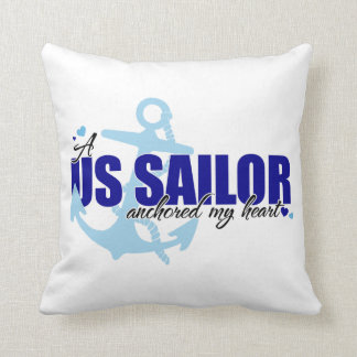 A Sailor Anchored My Heart Throw Pillow