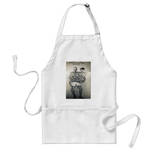 A sailor and his mermaid adult apron