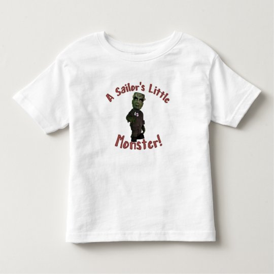 A Sailor's Little Monster Toddler T-shirt