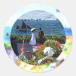 À Sainte-Adresse de Jardin de Claude Monet Etiqueta Redonda