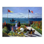 À Sainte-Adresse de Jardin de Claude Monet Tarjeta Postal