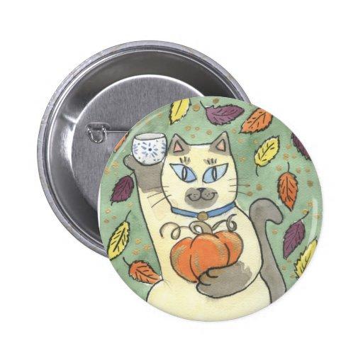 A Sake Toast to Harvest Time Pinback Button