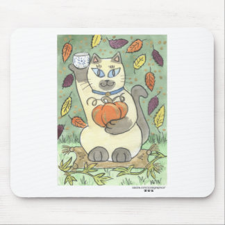 A Sake Toast to Harvest Time Mouse Pad