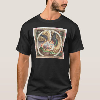 A salamander regenerated by the flames of a fire T-Shirt