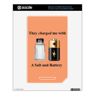 A Salt and Battery Assault and Battery Decal For The NOOK Color