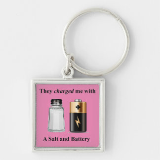 A Salt and Battery Assault and Battery Keychain