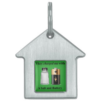 A Salt and Battery Assault and Battery Pet ID Tag