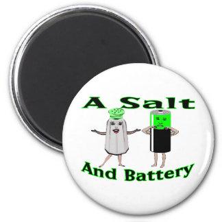 A Salt And Battery Fridge Magnets