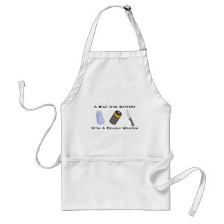 A Salt And Battery With A Deadly Weapon Aprons