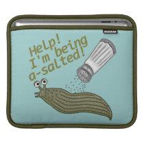 A Salted Slug Pun Funny Animal Joke Sleeve For iPads